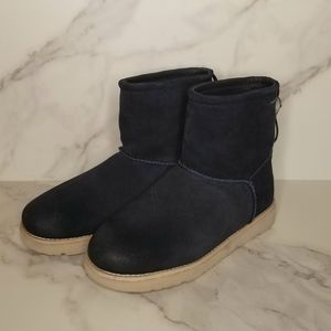 NEW | UGG | Navy Suede Toggle Boots